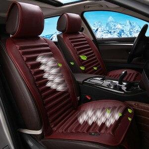 Image 2 - Luxury 12V Summer car seat cushion air cushion with fan seat cushion car seat cooling vest cool summer ventilation cushion