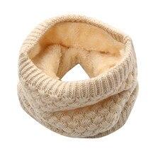 Женский шарф для мужчин, осень, зима, теплый шерстяной хлопковый шарф, женский толстый вязаный шарф с воротником, однотонный короткий шарф