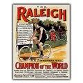 Велосипеды Raleigh, велосипеды, металлический знак, настенный налет, винтажный рекламный рисунок