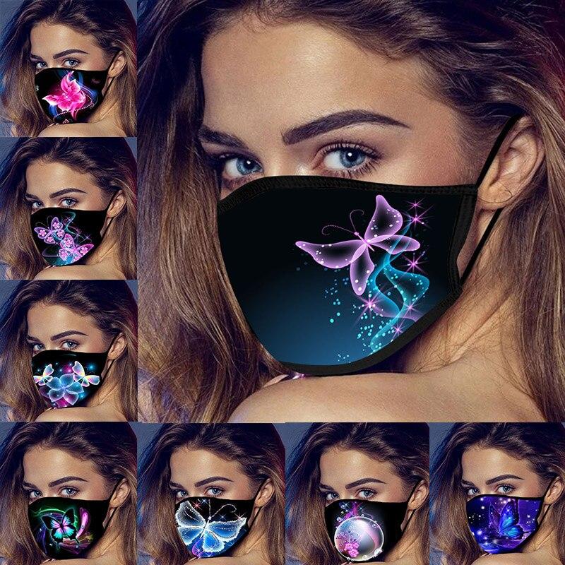 Модная маска-бабочка маска для рта многоразовая моющаяся маска для лица s дышащая защитная маска для лица светящаяся маска-бабочка маска дл...