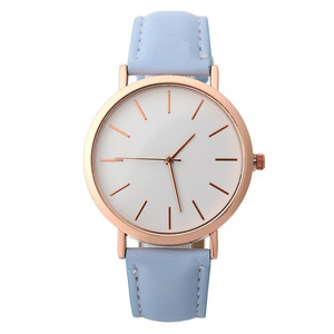 Image 5 - Simple Women Watch Casual Alloy Women Watches TOP Brand Luxury Leather Analog Round Quartz Wrist Watch Relogio Wristwatch