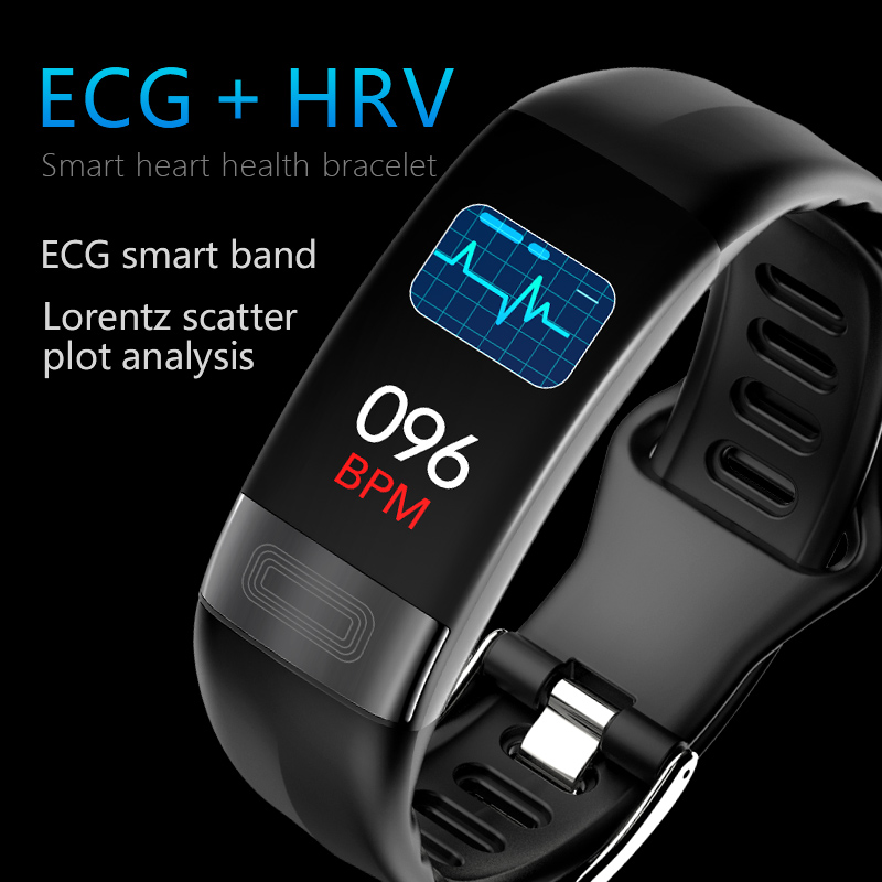 Newest smart band blood pressure smartband heart rate monitor PPG ECG smart bracelet Activit fitness tracker Sports smart watch