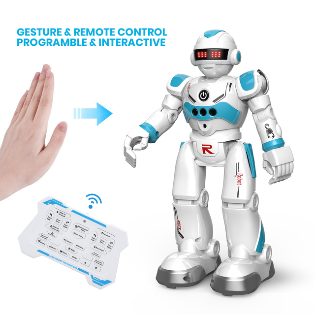 DEERC RC Robot Toy for Kids,Smart Gesture Sensing Remote Control Robot,Great Toys Gift for 3-8 Year Old Boys Girls 2