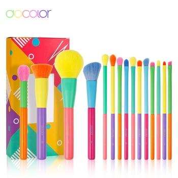 Docolor 15pcs Makeup Brushes Professional Powder Foundation Eyeshadow Make Up Brush Set Synthetic Hair Colourful Makeup Brushes 1