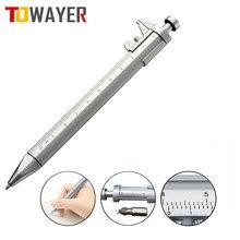 0-100mm plástico multifunction gelink caneta vernier calibre ballpoint scaleruler instrumento de medição de escrita artigos de papelaria