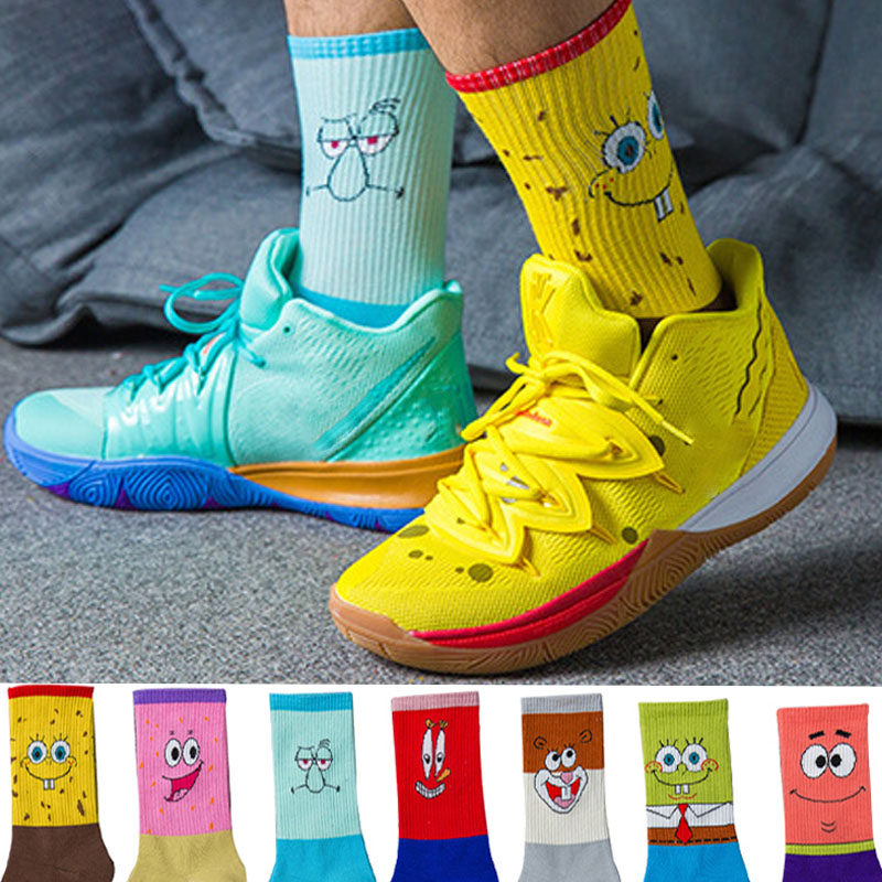 Fashion Cotton Personality Cartoon Character Socks Men And Women Casual Socks Unisex Harajuku Creative Hip Hop Skateboard Socks