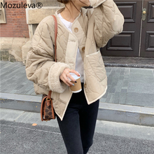 Women Coat Jacket Lambswool Winter Outwear Warm Female Elegant Thick Patchwork Solid