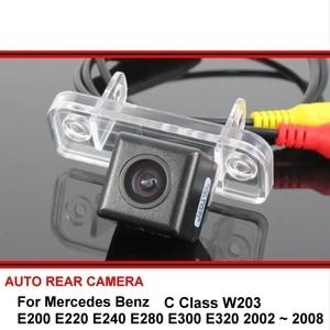 Retrovisor para mercedes benz c w203 e e200 e220 e240 e280 e300 e320 hd, visão traseira de estacionamento câmera de visão noturna