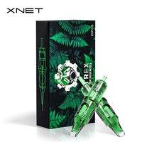 XNET TREX-cartucho de tatuaje de 20 piezas, agujas redondas Magnum RM, tatuaje de maquillaje permanente, aguja PMU para máquinas de cartucho, agarres