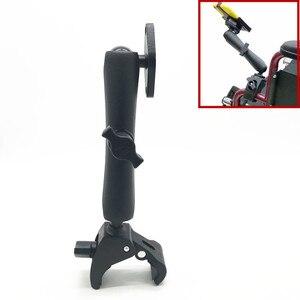 """Image 2 - Podwójne ramię i 1 """"gumowa piłka mocny uchwyt na wózek inwalidzki z płytka na diamenty dla Garmin Gopro"""