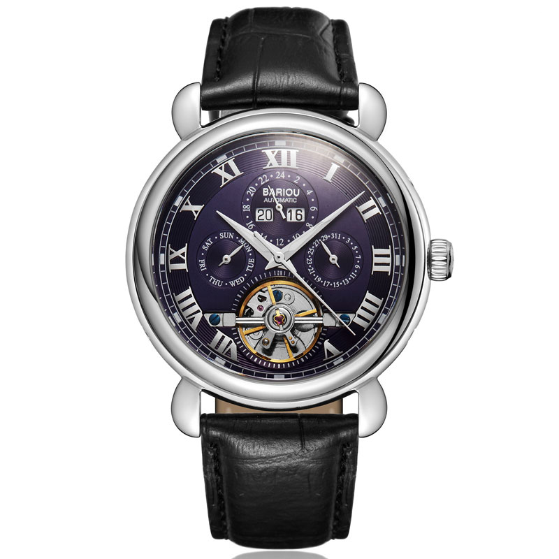 Relógios de Negócios Relógio de Pulso Moda à Prova Relógio Mecânico Luminoso Automático Couro Marca Superior Luxo Dwaterproof Água 2019 Men