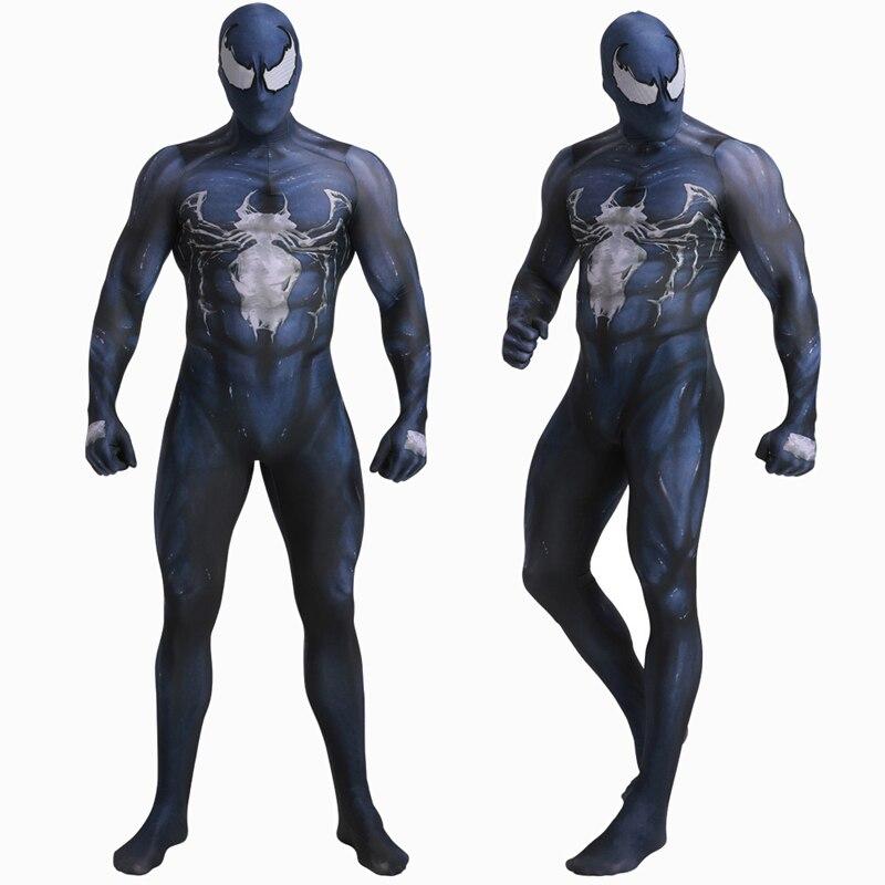 Deluxe Quality Venom Spiderman Cosplay Costume Marvel Superhero Movie Venom Costume Adult Kids Boys Halloween Costume For Kids