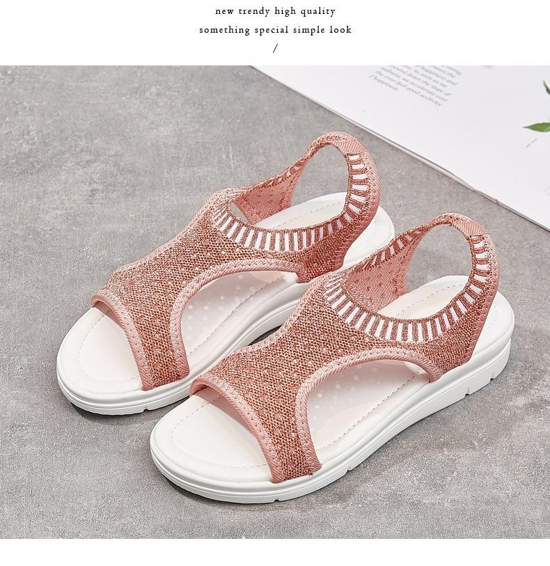 Heb9c464297e941d98bb56f9c425318b2S WDZKN 2019 Sandals Women Summer Shoes Peep Toe Casual Flat Sandals Ladies Breathable Air Mesh Women Platform Sandals Sandalias
