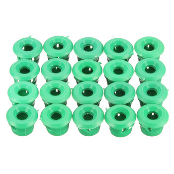 20pcs Side Skirt Door Sill Moulding Clips Green Plastic Rocker Panel Trim Grommets 51711932996 for BMW E30 E32 E36 E46 E60 E61 image