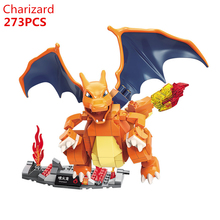 2020 NEW Anime Movie Pokemon Ash Ketchum Poké Ball Charizard Building Blocks Model Sets Bricks Classic For Children Toys Gift lno 217pcs charizard pokemon building block