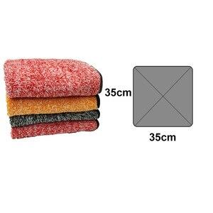 Image 5 - Auto Detaillering 35x35cm Auto Wassen Doek Microfiber Handdoek Car Cleaning Rag Voor Cars Dikke Microfiber Voor car Care Keuken