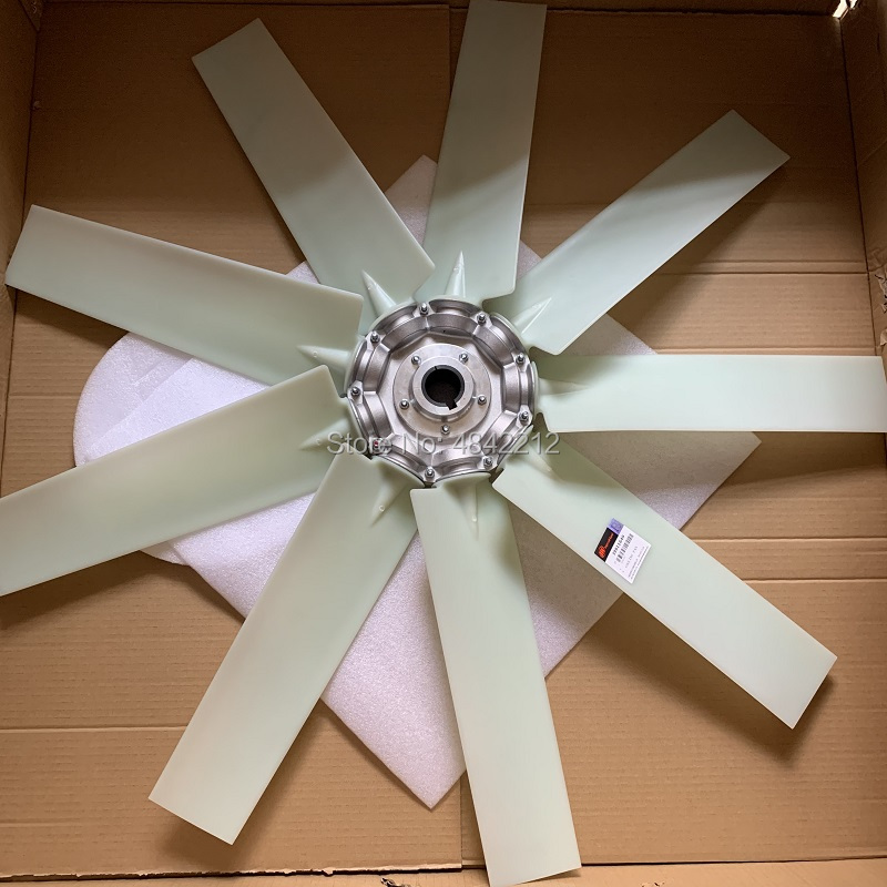 Free shipping OEM 39911649 white 9 blades cooling fan air compressor axial fan without motor for IR screw air compressor