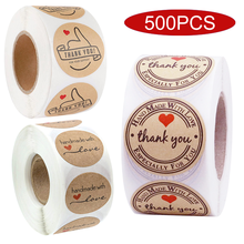 500Pcs/Roll Japan Journal Cute Thank You Sticker Seal Label Handmade Scratch Off Kawaii Stationery Post Decorative Gift Envelope(China)