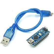 Promoção para arduino nano 3.0 atmega328 controlador placa compatível módulo pcb placa de desenvolvimento sem usb v3.0