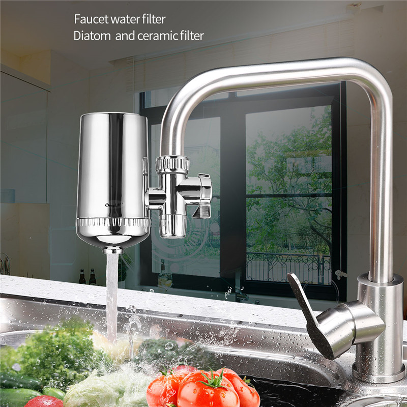 Kitchen Tap Water Purifier Household Faucet Filter Activated Carbon Water Filter Filtro Rust Bacteria Removal Water Cartridge