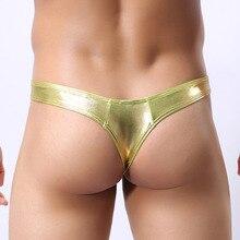 Hot sale Sexy Gold Thong T-back Men Underwear Mens Jockstrap