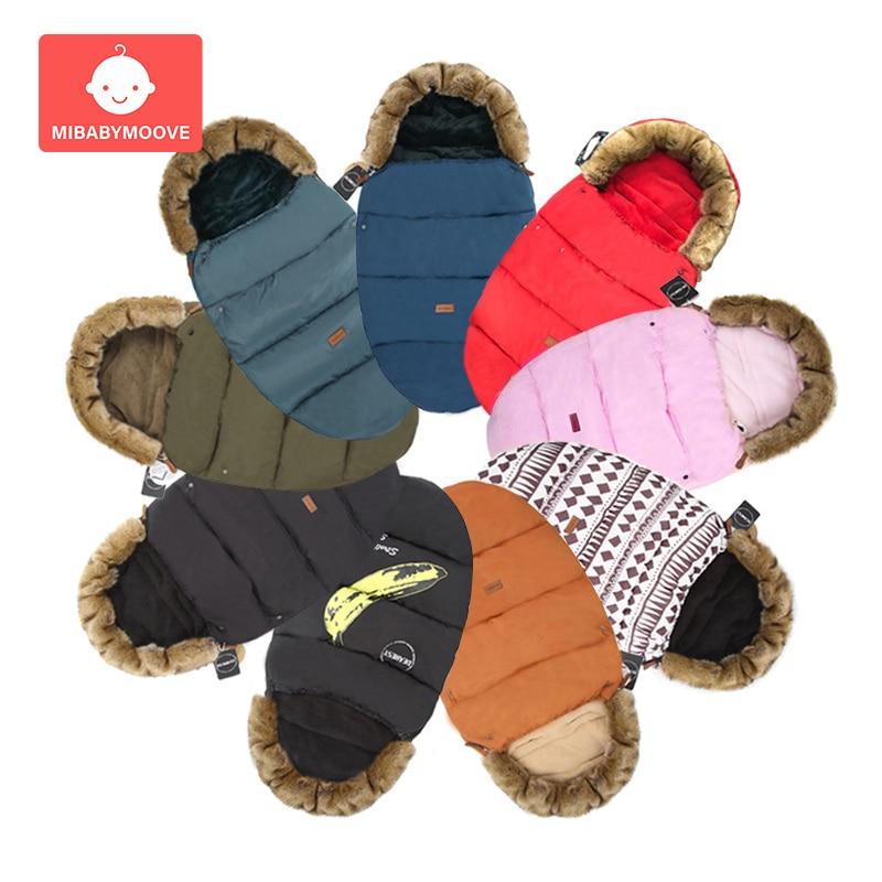 Winter Warm Baby Stroller Sleeping Bag Windproof Newborns Sleepsacks Thicken Footmuff Accessories