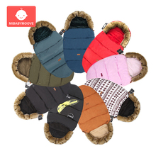 Winter Warm Baby Stroller Sleeping Bag Windproof Newborns Sleepsacks Thicken Footmuff Accessories