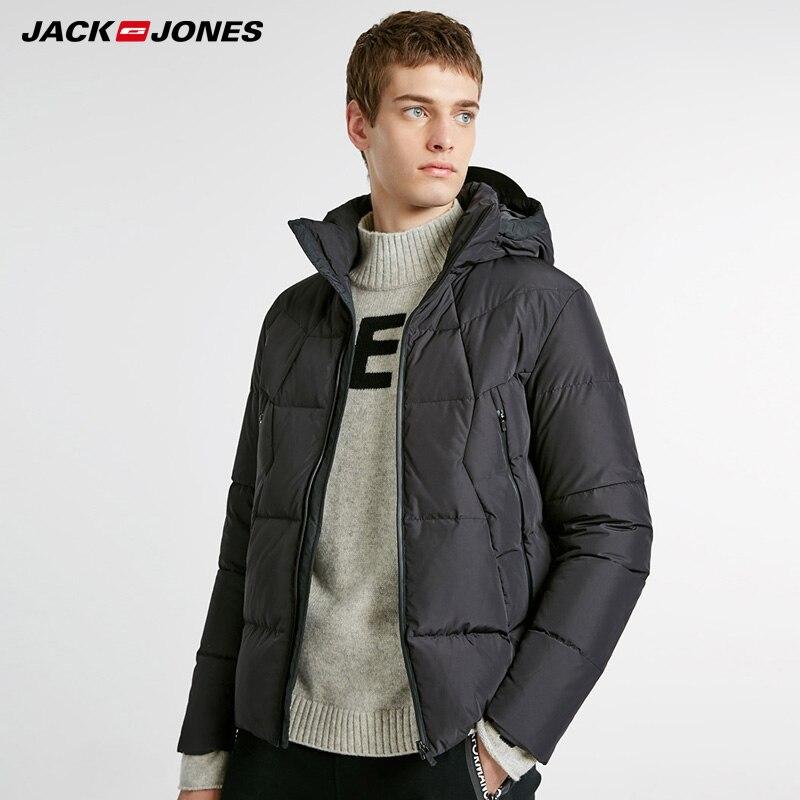 Jack Jones Winter Mens Versatile Short Hooded Down Jacket Coat |218412511