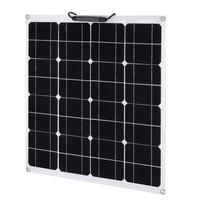 New 50W 12V Outdoor Solar Charging Device Flexible Monocrystalline Solar Panel Module For Camping Garden Camping Power Supply