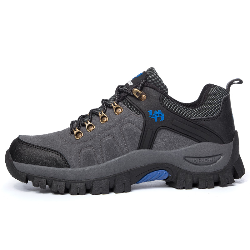 Unisex Suede Breathable Hiking Shoes Women Outdoor High Quality Camping Climbing Shoe Men Non-slip Slow Shock Trekking Footwear