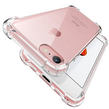 Luxury Shockproof Silicone Phone Case For iPhone 7 8 6 6S Plus 7 Plus 8 Plus 11 Pro XS Max XR X Case Transparent Protection case(China)