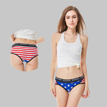 High-grade printing ladies cotton underwear sexy Europe and America girls thong in autumn winter