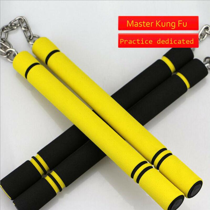 2020 Practice Nunchaku JKD Training Safety Martial Arts Product Training PVC Foam Sponge Padded Karate Practice Stick Nunchaku