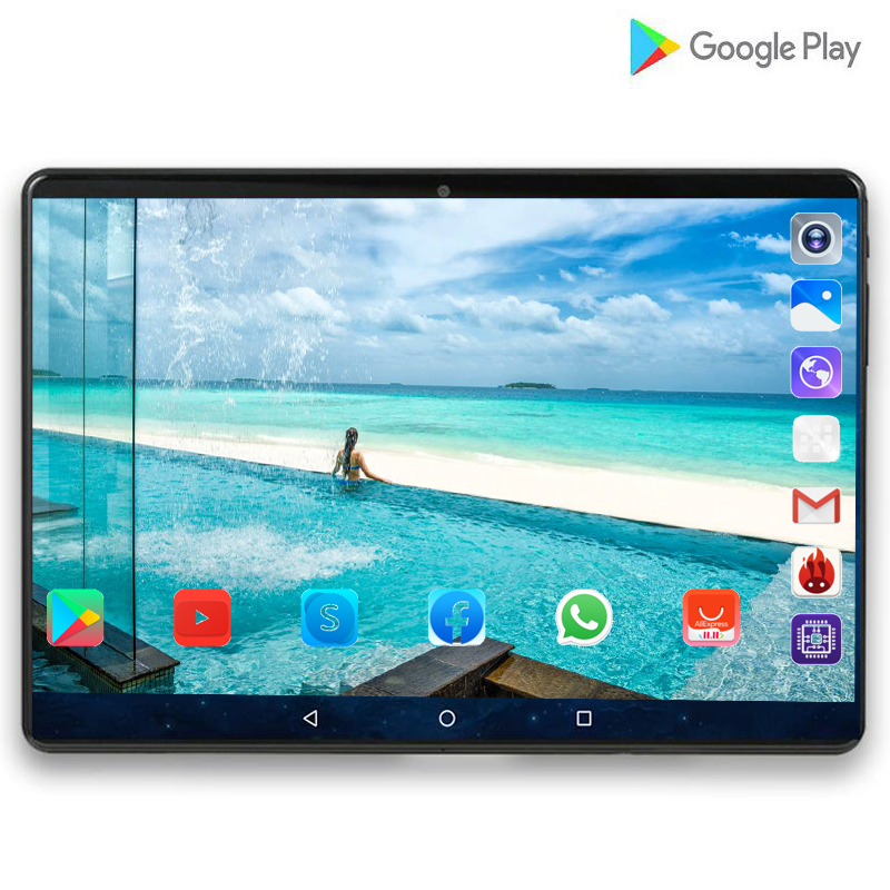 Super Tablet 128G Global 3G WIFI Sea Bluetooth  Android 9.0 10 Inch Tablet Octa Core 6GB RAM 64GB 128GB ROM 2.5D Screen Tablets
