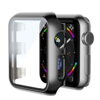 Copertura paraurti a colori a schermo intero con bordo rosso per Apple Watch 6 5 4 3 2 40MM 44MM custodia per iWatch SE 6 5 42MM Protector Apple Watch