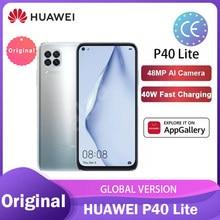 Huawei P40 Lite 6 + 128 Гб Смартфон глобальная версия 48MP AI камеры Kirin 810 Octa Core 6,4 ''FHD экран 40 Вт солнечной зарядки телефон