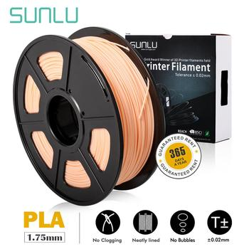 цена на Skin Color SUNLU Top Quality PLA 3D Printer Filament 1.75MM PLA Filament 1kg/Roll Plastic PLA 3D Filament For Pen