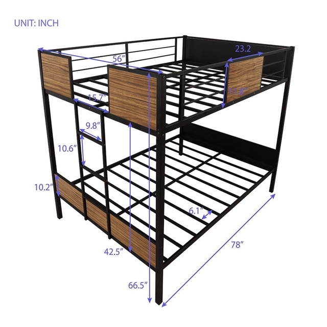 Twin-over-Twin Steel Framed Bunkbed 5