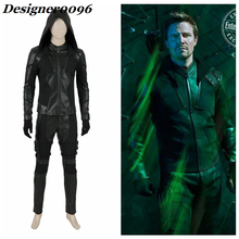 Movie cosplay Green Arrow Cosplay Costume Arrow Season 8 Oliver Queen Clothes Set Halloween Costumes from Men PU Adult Cosplay цена и фото