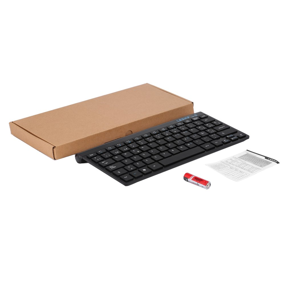Universal Compact Durable Slim Portable Wireless Bluetooth 3.0 Keyboard With Built In Rechargeable Battery