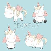 AZSG Cute Unicorn / Pegasus Clear Stamps/Seals For DIY Scrapbooking/Card Making/Album Decorative Silicone Stamp Crafts