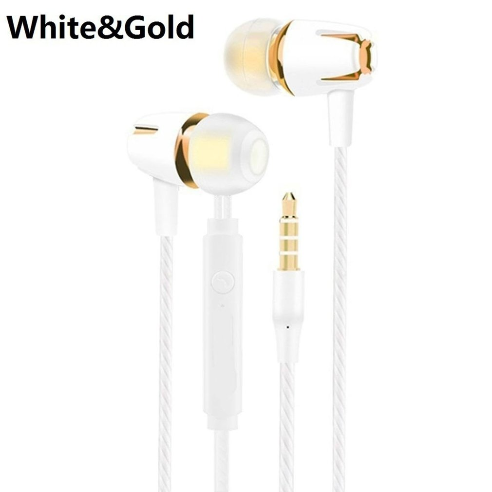 In-Ear Headphone Wired Handsfree Samsung with Mic Electroplating-Bass for Stereo Colorful