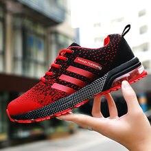Flyline vermelho respirável quente mulher correndo tênis de ar formadores leve manter correndo maratona sapatos esportivos feminino tênis de ar