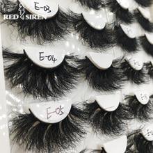 RED SIREN 1 Pair 25 mm Mink Eyelashes Fluffy Lashes Dramatic Messy Long False Eyelashes Makeup Wholesale 25mm 3d Mink Lashes