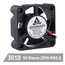 Free shipping 1pcs/set GDT 3010 5v 2p 3cm 30mm 30 x 10mm 5 blades DC Mini Cooling Fan