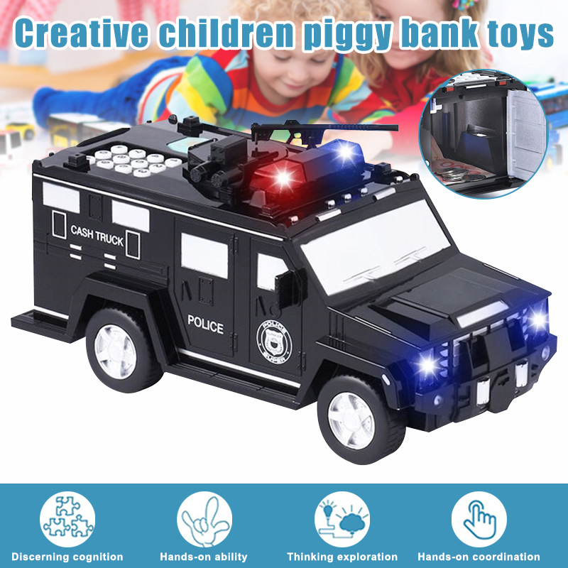 2020 New Smart Music Password Banknote Car Toy Piggy Bank With Light Electronic Money Bank Toy Car