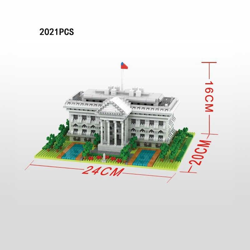 العالم الشهيرة العمارة مايكرو الماس كتلة الولايات المتحدة واشنطن العاصمة البيت الأبيض الرئاسية قصر نانو الطوب اللعب