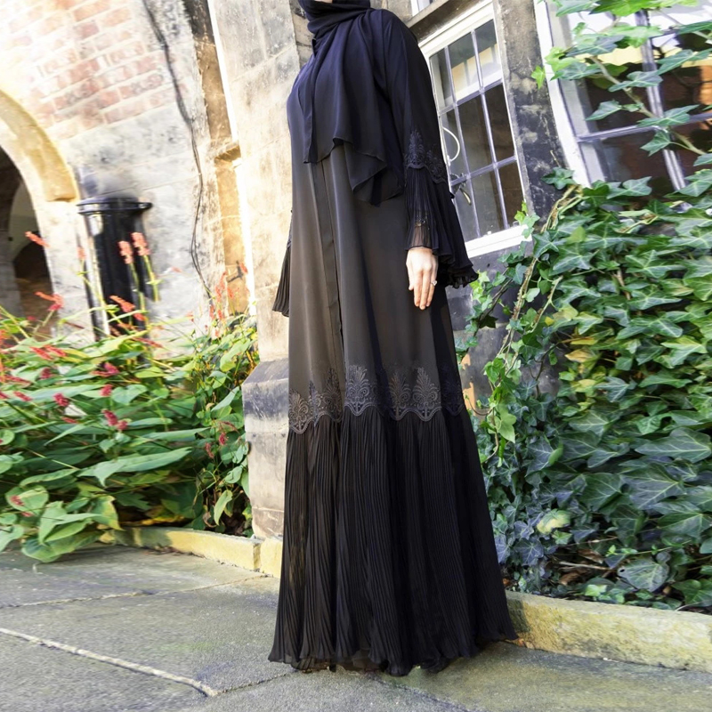 Abaya Kimono Kaftan Malaysia Pleated Muslim Cardigan Hijab Dress Abayas For Women Turkish Islamic Clothing Caftan Dubai Djellaba