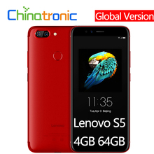 "Global Version Lenovo S5 K520 4GB 64GB Mobile Phone Snapdragon 625 Octa core Dual Rear 13MP Front 16MP Face ID 5.7""FHD 18:9"
