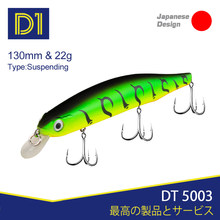 D1 ORBIT 130sp minnow lures 130mm 22g suspending fishing lure floating 0-1.2m jerkbait for fishing pike bass perch jerkbaits(China)